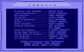 Stellar 7 for IBM PC/Compatibles - Game credits.