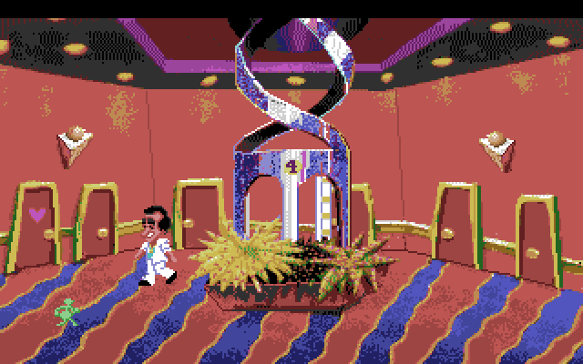 Leisure Suit Larry 1: In the Land of the Lounge Lizards Amiga Screenshot: One of the floors in the hotel...