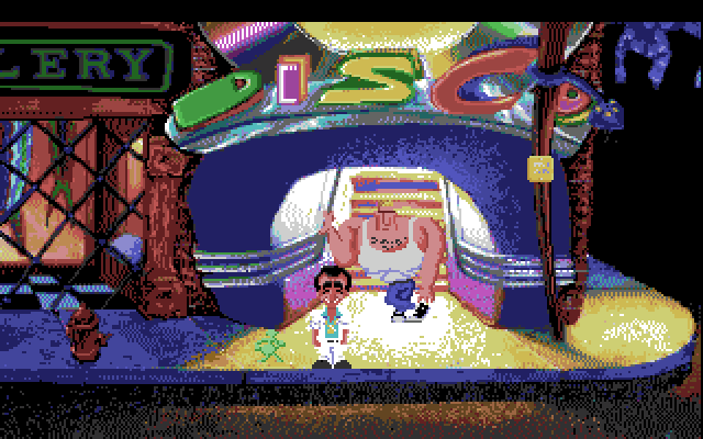 Leisure Suit Larry 1: In the Land of the Lounge Lizards Amiga Screenshot: Time for some disco!
