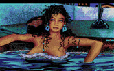 Leisure Suit Larry 1: In the Land of the Lounge Lizards for Amiga - Another closeup view, this time of Eve.