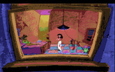 Leisure Suit Larry 1: In the Land of the Lounge Lizards for Amiga - At the top level of the bar; who's that girl here?