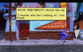 Leisure Suit Larry 1: In the Land of the Lounge Lizards for IBM PC/Compatibles - Running from the police...