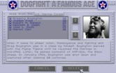 Aces of the Pacific for IBM PC/Compatibles - Dogfight a famous ace menu.
