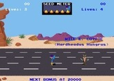 Road Runner for Arcade screenshot thumbnail - Game start; introducing the characters, Road Runner style!