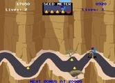 Road Runner for Arcade screenshot thumbnail - The coyote catches the road runner!