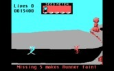 Road Runner for IBM PC/Compatibles screenshot thumbnail - Road runner faints if he doesn't eat enough bird seed.