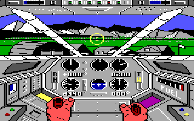 Infiltrator IBM PC/Compatibles Screenshot: Taking off...