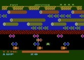 Frogger for Atari 5200 screenshot thumbnail - Game start; Frogger crosses the road.