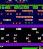 Frogger for Arcade - Help the lady frog for bonus points.