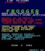 Frogger for Arcade - Updated revisions included gameplay instructions.