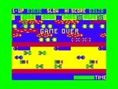 Frogger for TRS-80 Color Computer - Game over.