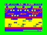 Frogger for TRS-80 Color Computer - Frog crossing the road...