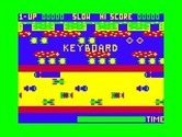Frogger for TRS-80 Color Computer - Starting screen and game demo.