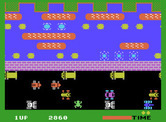Frogger for ColecoVision - Watch out for turtles when they dive underwater...