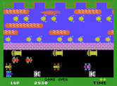 Frogger for ColecoVision - Game over.