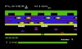 Frogger for Commodore VIC-20 - Game start.
