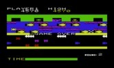 Frogger for Commodore VIC-20 - Game over.