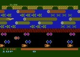 Frogger for Atari 8-bit - Starting screen; you can select game options here.