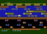 Frogger for Atari 8-bit - Don't fall into the water...