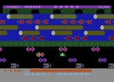 Frogger for Atari 8-bit screenshot thumbnail - Frogger crosses the road...