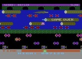 Frogger for Atari 8-bit - Game over.