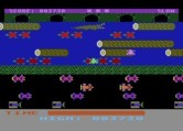 Frogger for Atari 8-bit - Be careful of crocodiles in later levels.