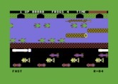 Frogger for Commodore 64 - Starting screen.