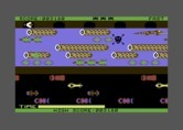 Frogger for Commodore 64 - Some turtles dive into the water...