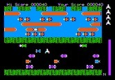 Frogger for Apple II - Frogger crosses the road...