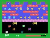 Frogger for TI-99/4A - Frogger crossing the road...