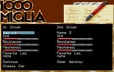 1000 Miglia for IBM PC/Compatibles screenshot thumbnail - Setting up some new drivers.