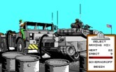 Abrams Battle Tank for IBM PC/Compatibles screenshot thumbnail - Selecting weapons for your tank.