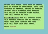 Adventure Quest IV for Commodore 64 - Lost at Sea - instructions, part 2.