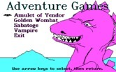 Adventure Quest IV for IBM PC/Compatibles - Disk 1 title screen and menu.