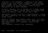 Adventure Quest IV for Apple II - Galactic Empires - Instrucitons, continued...