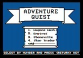 Adventure Quest IV for Apple II - Side B title screen and menu.