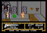 Indiana Jones and the Temple of Doom for Apple II - Watch out for that trap door, or you might fall into the lava!