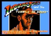 Indiana Jones and the Temple of Doom for Apple II - Title screen.