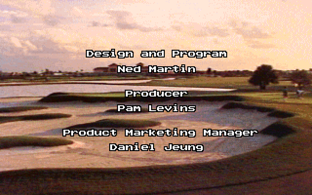 The credits screen when starting the course designer.
