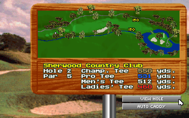 Hole 2 at Sherwood overview.
