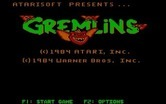 Gremlins for IBM PC/Compatibles - Title screen.