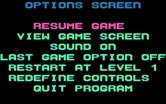 Revenge of Defender for IBM PC/Compatibles screenshot thumbnail - Game options screen.