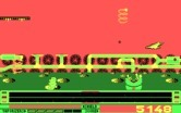 Revenge of Defender for IBM PC/Compatibles screenshot thumbnail - Either avoid or shoot the bouncing springs.