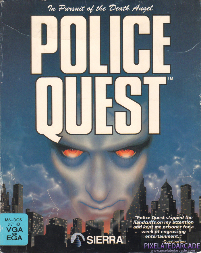 Police Quest: In Pursuit of the Death Angel Cover Art: