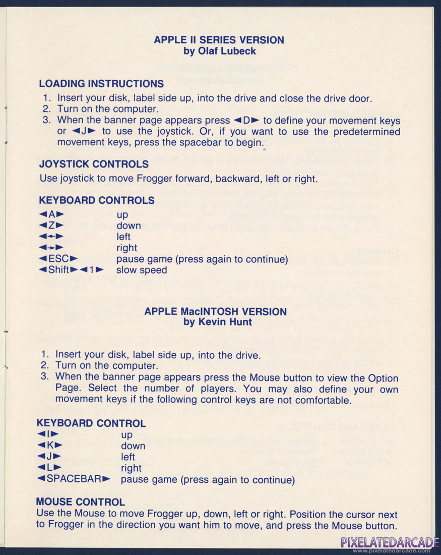 Frogger: Instruction Manual - Page 3