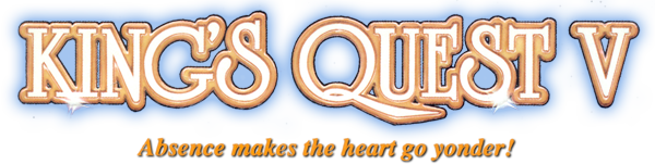 King's Quest V: Absence Makes the Heart Go Yonder! logo