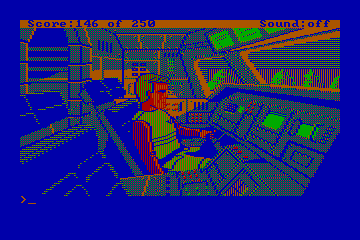 Space Quest II actual CGA palette