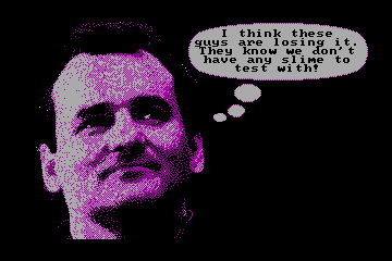 Ghostbusters II actual CGA palette