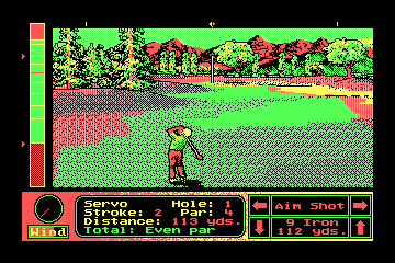 Jack Nicklaus' Unlimited Golf & Course Design actual CGA palette example 1