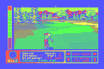 Jack Nicklaus' Unlimited Golf & Course Design hypothetical CGA palette example 1
